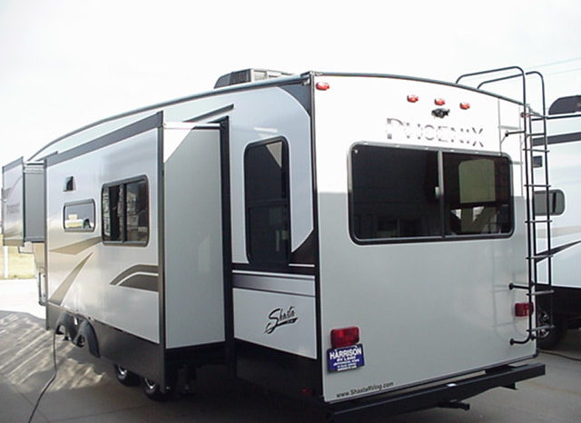 2019 Shasta Phoenix Lite 285RLS * 3 Slides * Outside Kitchen * 4-Point Auto Leveling * Camelot Décor * 9524 Lbs. Dry Weight * STK # 1934TR full