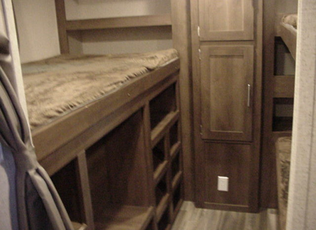 2019 Shasta Oasis 310K * Triple Bunk Beds * 6165 Lbs. Dry Weight * Outside Kitchen * Front Queen Bed * Stk. #1943TR full